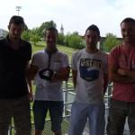 Les 4 meilleurs buteurs de la saison : Loïc, Sito, Ben et Lolo.