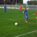 Valentin Guyon a réalisé un excellent match dans la défense de son couloir.