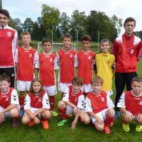 L'équipe U11 qui évolue au 2ème niveau était encadrée ce samedi par 2 U19, Antoine et Aurélien.