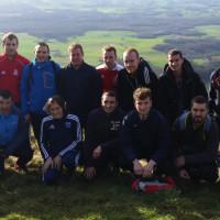 Le groupe au sommet du Mont-Myon